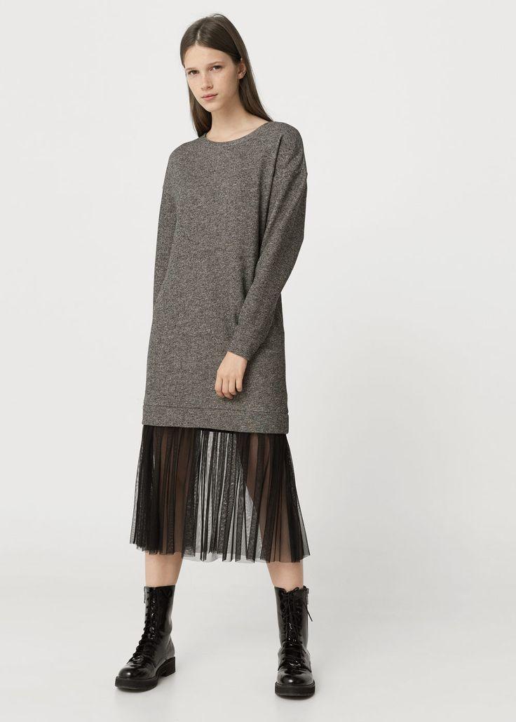 Tulle appliqué dress | MANGO