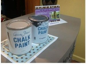 PAINT CANS CoCo and Old White vintage sign tutorial using Chalk Paint® decorative paint Products.  Here is a link so you can do this too!  http://www.thepurplepaintedlady.com/2012/05/who-is-your-fairy-godmother-mine-is-the-graphics-fairy-llc/#