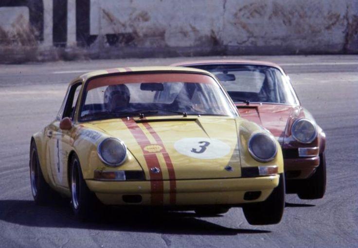 Jim McKeown and Brian Foley, Porsche 911S's @ Oran Park, Sydney 1970 (Dick Simpson)...