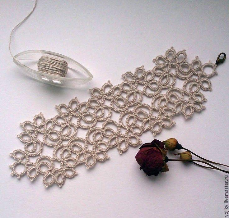 Купить Браслет жемчужное утро - серый, кружевной браслет, винтажный стиль, винтажное украшение, фриволите