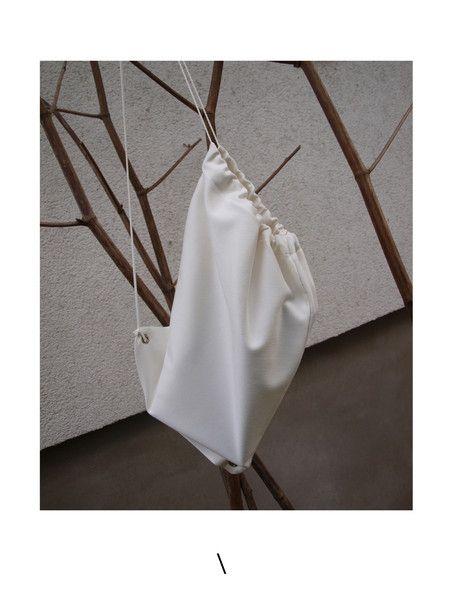 Fabric Totes – / WOREK TORBA BIAŁY / – a unique product by karolina_konieczna on…