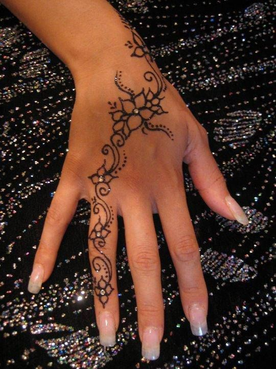 Henna ~ Mendhi -- I like this. It's not over the top like most I've seen, but it's still symbolic.