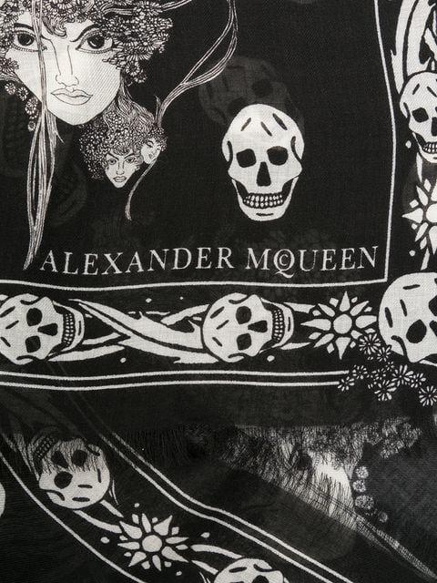 Alexander calavera bufanda y Mcqueen de Eve XgwAXqr