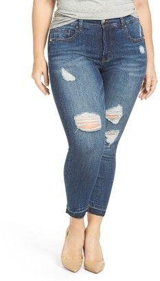 Shop Now - >  https://api.shopstyle.com/action/apiVisitRetailer?id=639061104&pid=uid6996-25233114-59 Plus Size Women's Melissa Mccarthy Seven7 Release Hem Pencil Leg Jeans  ...