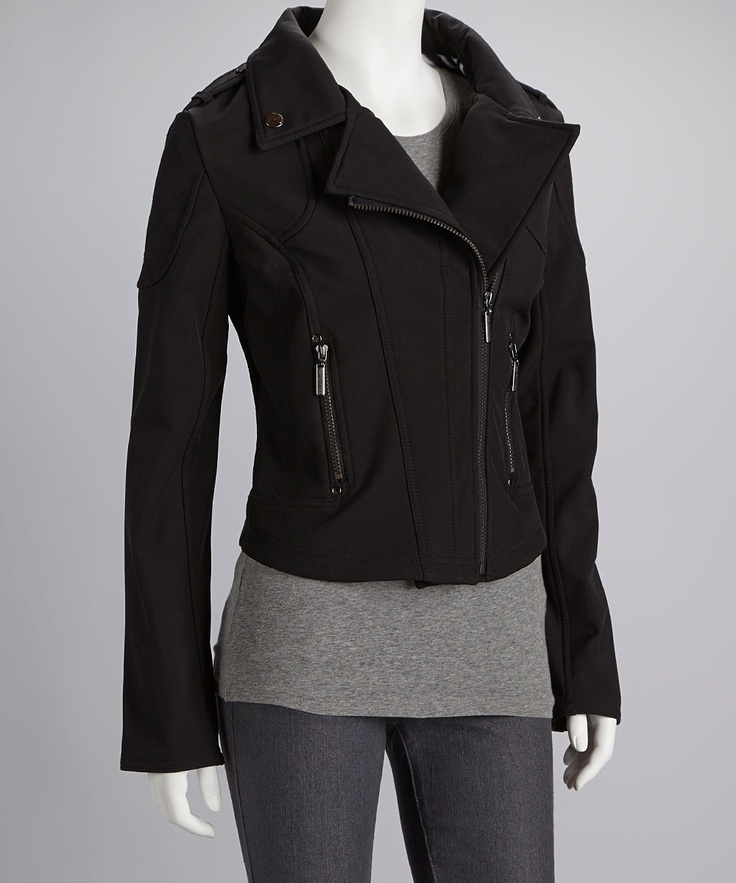 Black Side Zip Motorcycle Jacket - Women - 16 Best Warm Leatherette Images On Pinterest