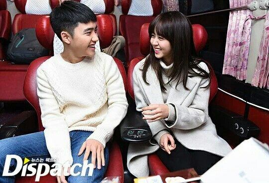 Do Kyngsoo (D.O EXO) and Kim sohyun - Promote movie 'Pure love'