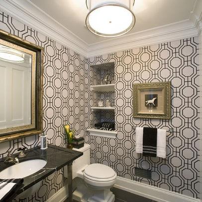 Powder Room Wallpaper Design, Pictures, Remodel, Decor And Ideas   Page 2.  Moderne DamentoiletteBadtapetenBad ...