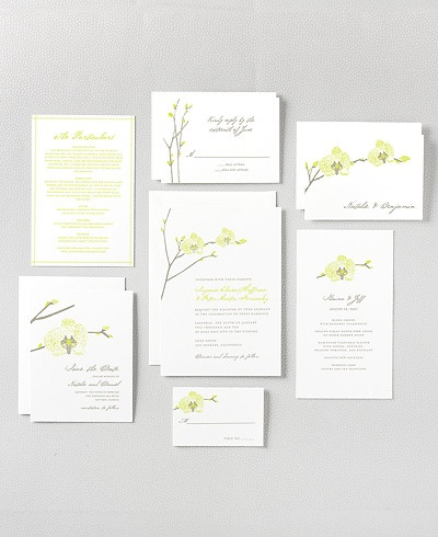 hello!lucky orchid wedding invitation set