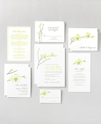 hello!lucky orchid wedding invitation set