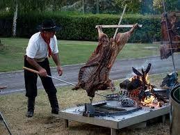 lamb on asador criollo