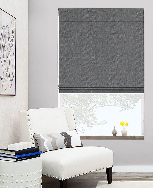 Cascade Roman Shades | Custom Roman Blinds | The Shade Store, THIS Is A Good Example for your Room grey on grey