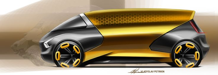 Sketch day#1 (van design) #cardesign, #design, #automotivedesign, #transportdesign, #vehicledesign, #cardrawing, #sketch, #carsketch, #art, #wheels, #photoshop, #van, #turtle, #gold, #black