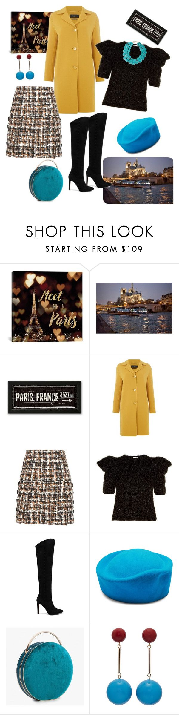 """Winter in Paris🗼🖼"" by parnett ❤ liked on Polyvore featuring iCanvas, MaxMara, Dolce&Gabbana, Yves Saint Laurent, Pura López, J.W. Anderson and Ralph Lauren"