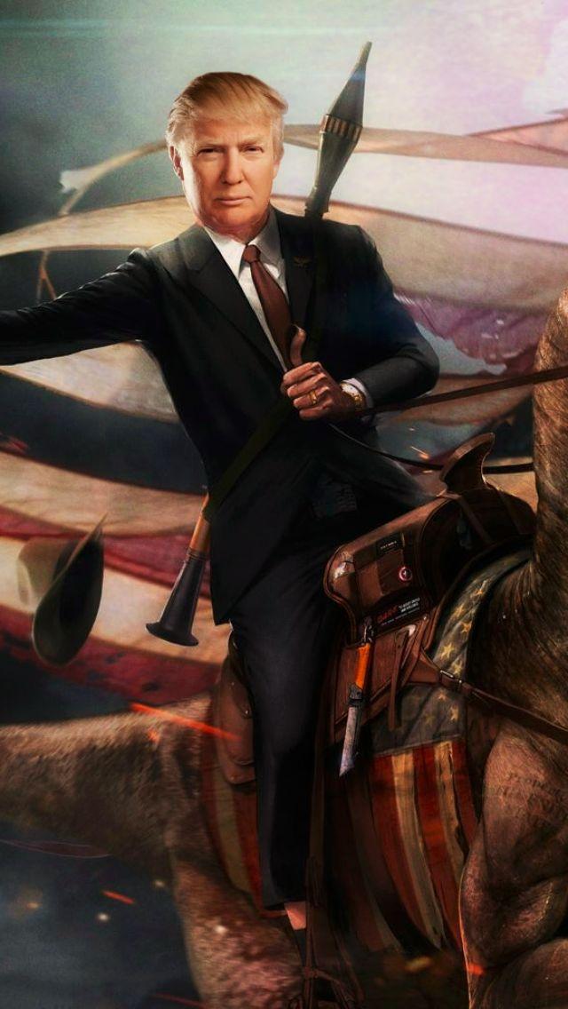 Trump riding a dinosaur funny lol politics republican