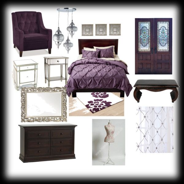 Purple Bedroom, created by debr1234 on Polyvore