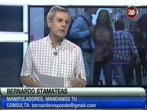 """""""El manipulador"""" - por Bernardo Stamateas - 06/11/2012 por Canal 26"""