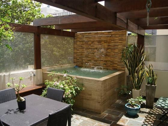 1000 ideas about condo balcony on pinterest balconies for Hot tub designs and layouts