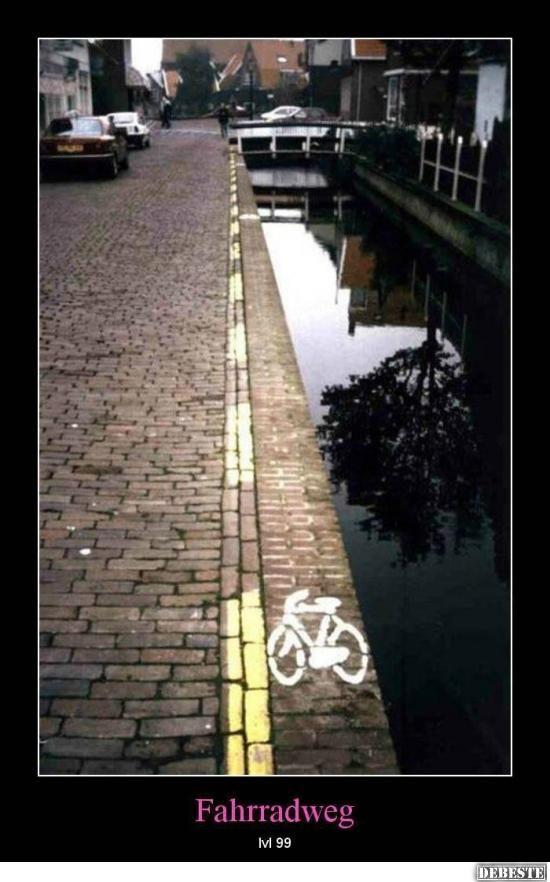 Fahrradweg - Level 99 | DEBESTE.de, Lustige Bilder, Sprüche, Witze und Videos