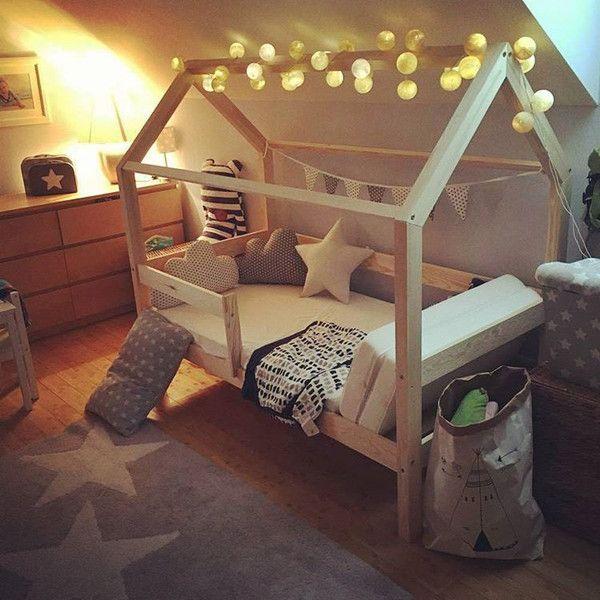 Betten - Bett Massivholz 80x160CM+20cm Bodenabstand Weiss - ein Designerstück von Benlemi bei DaWanda