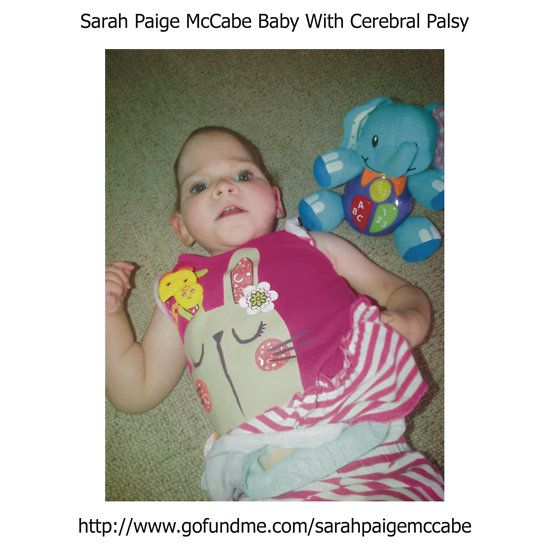 Sarah Paige McCabe T-Shirt Design To Raise Money For Baby Girl Born With Cerebral Palsy