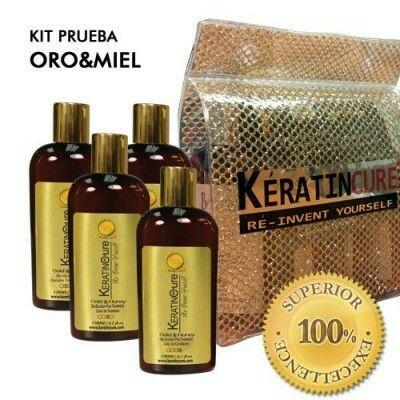 Kit Keratin cure bio oro & miel. www.haircultureshop.es