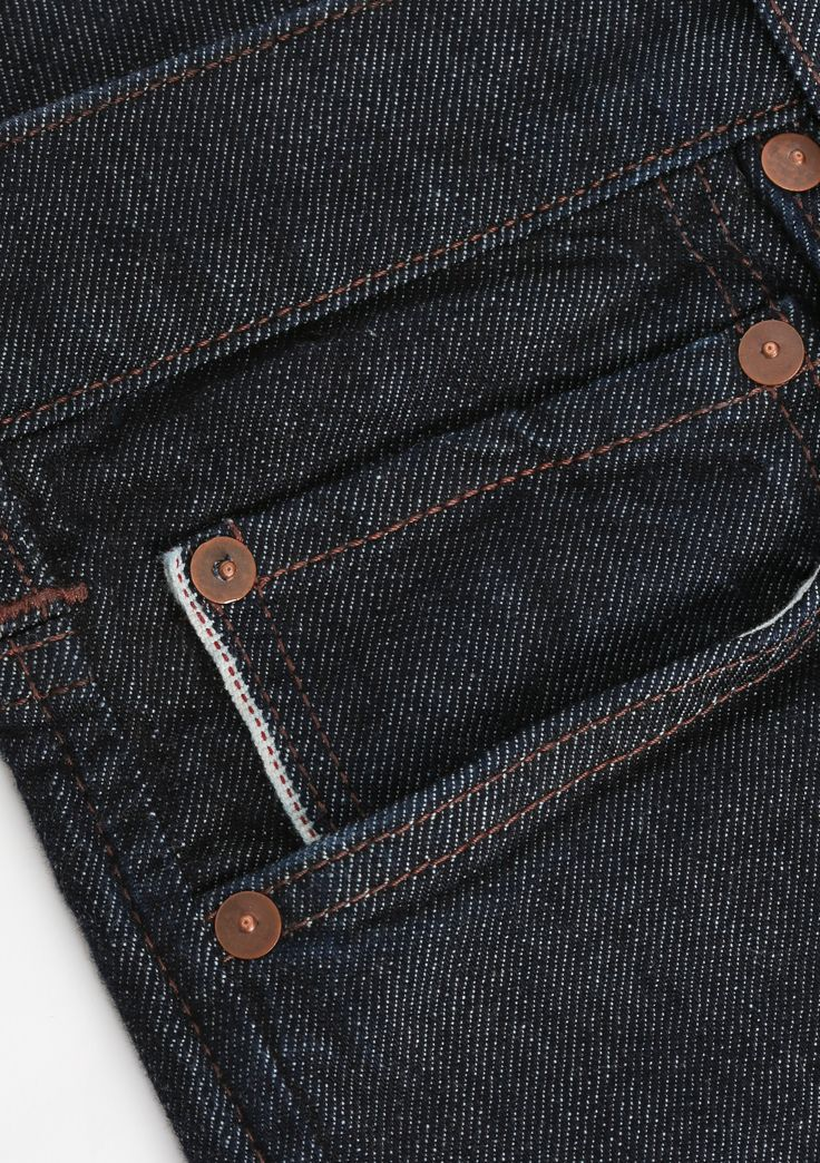 Selvedge details on the pockets