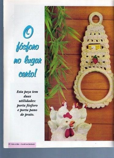 Uncinetto d'oro: Porta ascugamano!  Towel and Note Holder Ring...(Crocheted)...