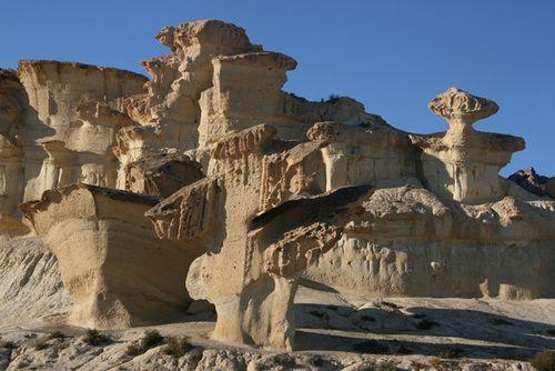 Rock formations at Ciudad Encantada (Enchanted City) - Cuenca, Spain