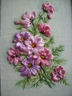 silk ribbon embroidery - Buscar con Google