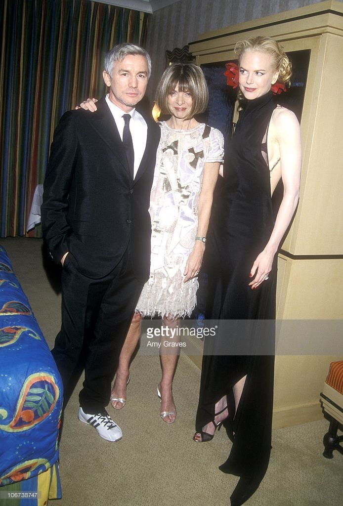 Baz Luhrmann, Anna Wintour and Nicole Kidman during 18th Annual American Cinematheque Award Honoring Nicole Kidman - Backstage at Beverly Hilton Hotel in Beverly Hills, California, United States.
