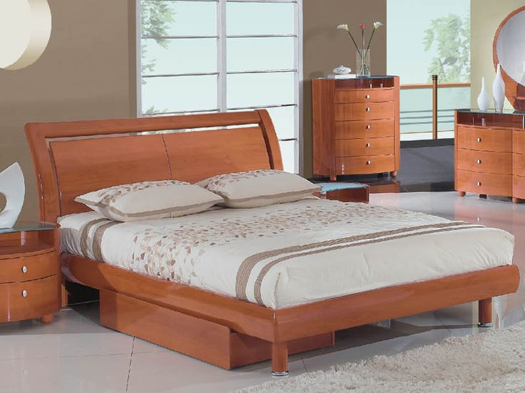 Global Furniture USA Emily Collection MDF/Wood Veneer Bedroom Set With  Queen Bed, Cherry