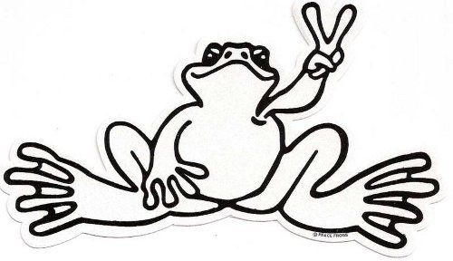 peace frog coloring pages - photo#28