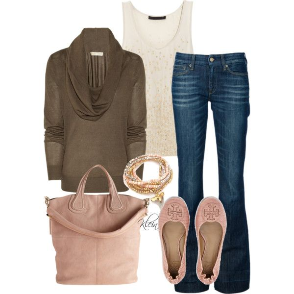 Brown and Pink outfit.