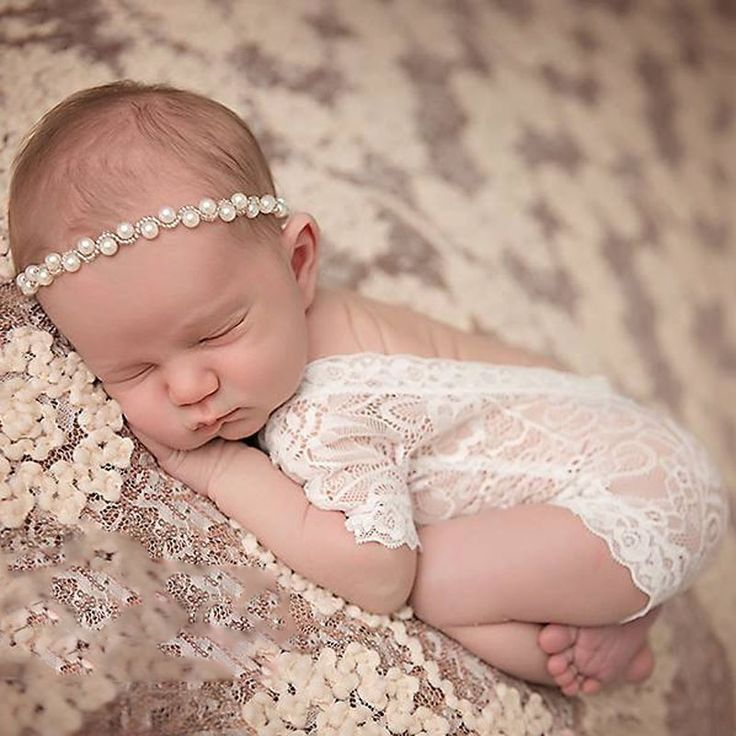 Cute Newborn Photography Props Baby Girl Lace Infant Romper Jumpsuit Clothes