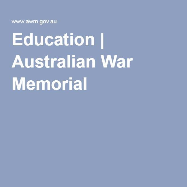 Education | Australian War Memorial