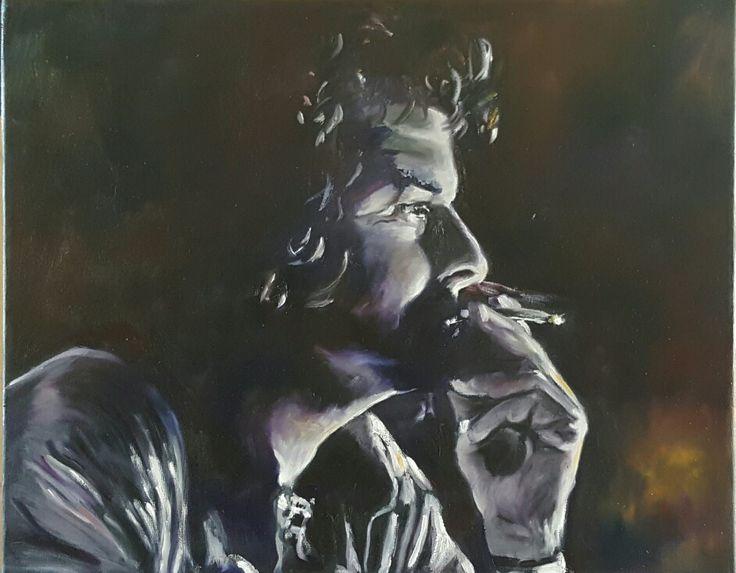 Oil Portrait painting...Deep thoughts...Portraiture