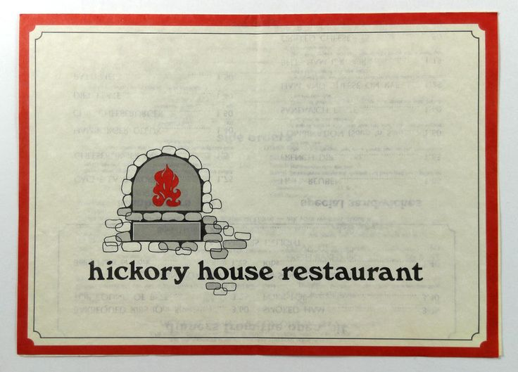 1970's Vtg Menu HICKORY HOUSE Restaurant Fort Collins Colorado Open Pit Log Fire