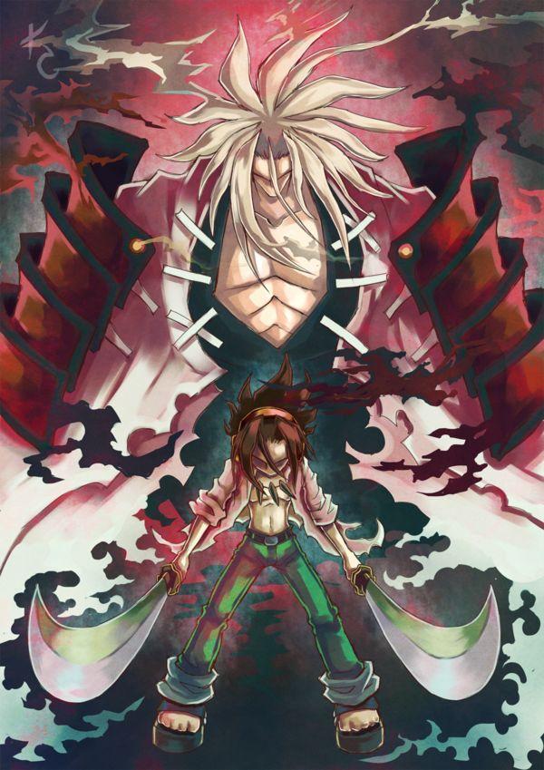 Shaman King - Yoh goes in Hard....Amidamaru!! into the sword