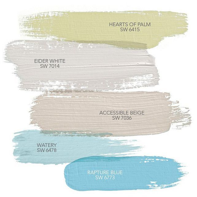 Coastal Paint Colors Hearts Of Palm SW 6415 Sherwin Williams Eider White