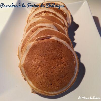 Pancake à la Farine de Châtaigne {Sans Gluten}