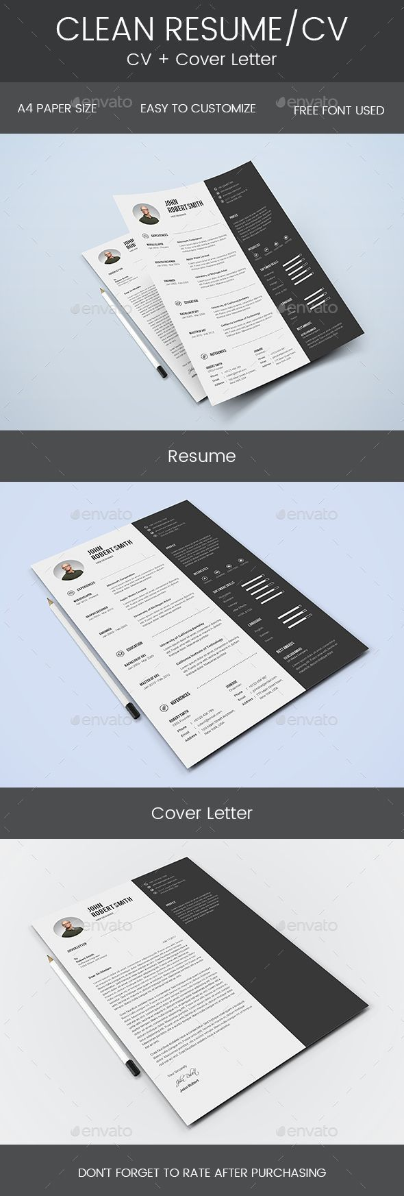 clean resume cover letter by mohsin_kabir description hello and thank you for resume cover letter templatesimple - Simple Resume Cover Letter Template