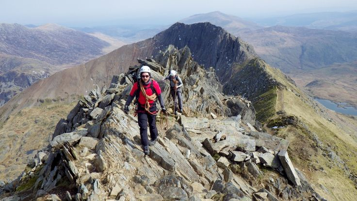 The main Crib Goch ridge in the background
