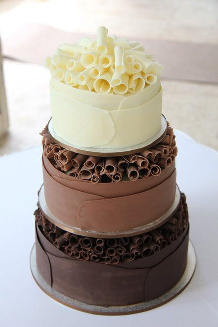 Chocolate Curl Cake - by CocoJo @ CakesDecor.com - cake decorating website