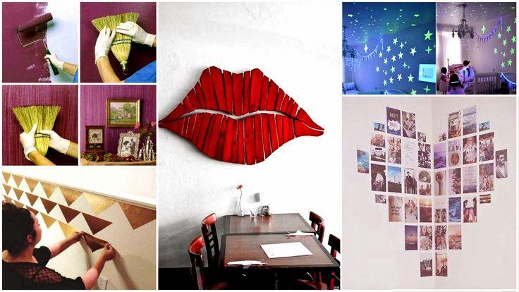 27 Kreatív faldekoráció könnyedén, házilag ~ Készítsd Otthon