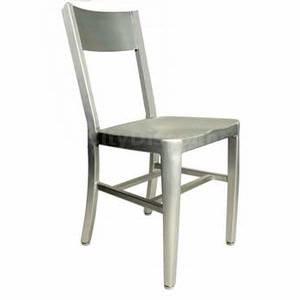 AAA Furniture 804 Brushed Aluminum Indoor Outdoor Restaurant Patio Chair  $63 $71