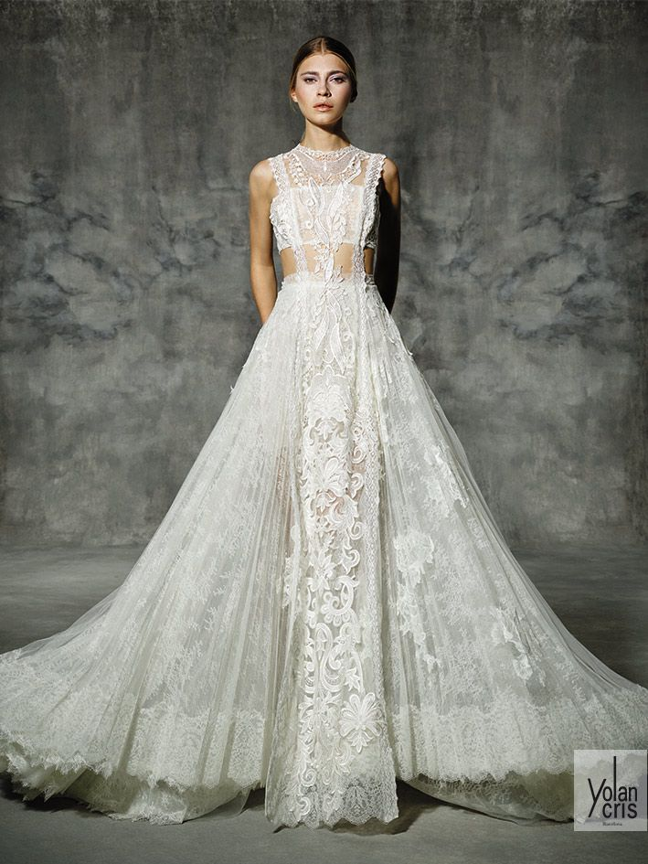 Lace wedding dress. New Bridal Collection 2016 - LACE - HIGH NECK - VICTORIANA