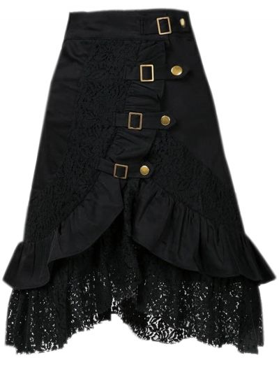 Women's Steampunk Gothic Vintage Lace Gypsy Hippie Skirt OASAP.com