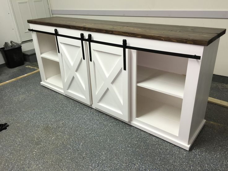 Grandy Sliding Door Console | Do It Yourself Home Projects from Ana White