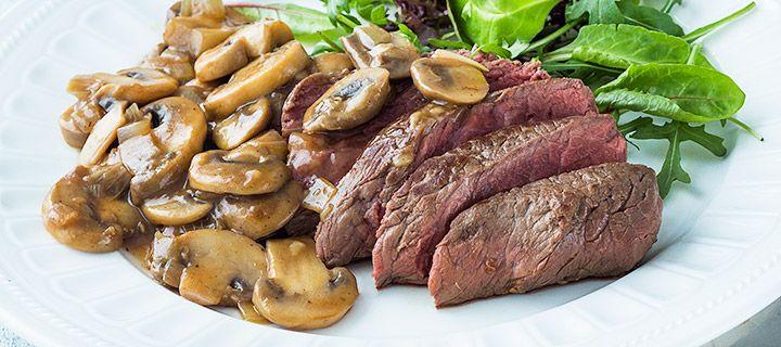 Weight Watchers proof: snelle biefstuk met champignonsaus