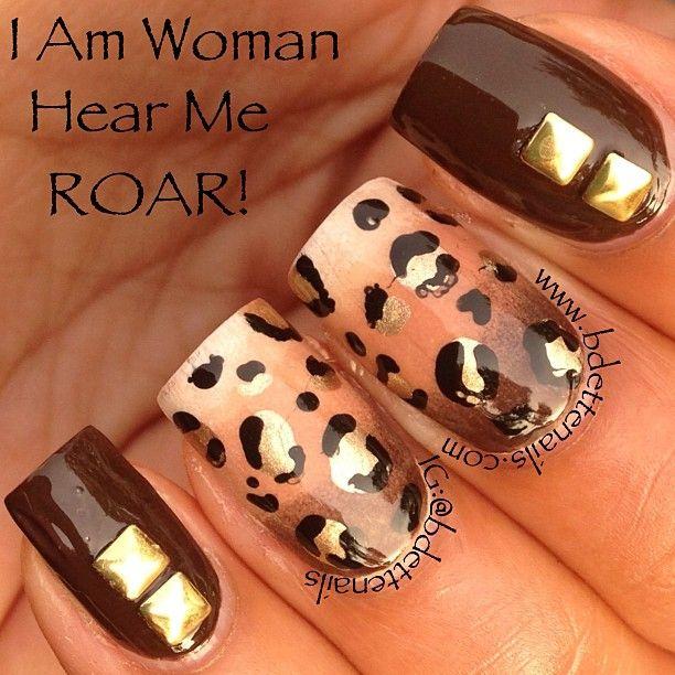 ".@Bdettenails | ""I Am Woman Hear Me ROAR"" was inspired from a tutorial by the lovel... | Webstagram"